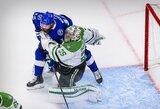 """3 įvarčius pirmame kėlinyje pelniusi """"Lightining"""" išlygino NHL finalo serijos rezultatą"""