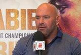 """D.White'as: """"B.J.Pennas UFC daugiau nebekovos, o C.McGregoras į Abu Dabį neatvyks"""""""