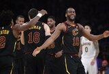 """""""Cavaliers"""" L.Jameso tvirtovėje nutraukė 12 pralaimėjimų seriją"""