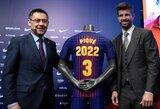 """G.Pique ateitis: po kelių metų pasitrauks iš futbolo ir bandys tapti """"Barcelona"""" prezidentu"""