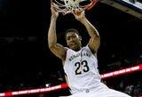 """Geriausias karjeros rungtynes sužaidęs A.Davisas atvedė """"Pelicans"""" į pergalę prieš """"Lakers"""""""