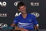 Po traumos atsigaunantis R.Nadalis pripažino, kad dar nepasiekė geriausios formos, N.Djokovičius išskyrė savo sėkmės paslaptį