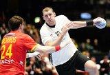 """Europos vyrų rankinio čempionate debiutavę latviai gavo """"krikštą"""" nuo ispanų"""