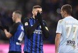 """Italijos """"Serie A"""": """"Inter"""" ir """"Lazio"""" išsiskyrė taikiai, """"Juventus"""" išgelbėjo P.Dybala dublis"""