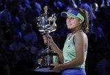 """""""Australian Open"""" to nematė 23 metus: S.Kenin pirmą kartą laimėjo aukščiausio rango turnyrą"""