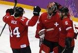 Šveicarijos ledo ritulininkai grupės etapą Sočyje baigė pergale prieš čekus