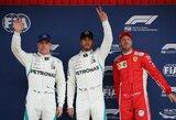 """""""Mercedes"""" pirmą kartą šiame sezone kvalifikacijoje iškovojo dvi pirmąsias vietas"""