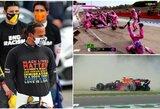 """Taurę iškovoję """"Mercedes"""" Imoloje pagerino """"Ferrari"""" visų laikų rekordą, L.Strollas pargriovė mechaniką"""
