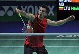 Europos badmintono čempionate lietuviai liko be pergalių