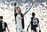 """C.Ronaldo realizavo du vienuolikos metrų baudinius, o """"Juventus"""" šventė užtikrintą pergalę"""