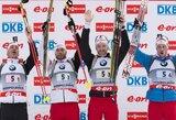 Pasaulio biatlono taurėje – Austrijos vyrų estafetės pergalė