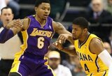 """""""Lakers"""" ekipa sutriuškinta Indianoje"""