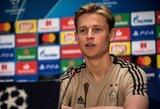 """F.De Jongas atskleidė, jog Čempionų lygoje nugalėti """"Real"""" buvo sunkiau nei """"Juventus"""""""