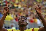 Pergalę šventusi Kolumbija išplėšė bilietą į atkrintamąsias
