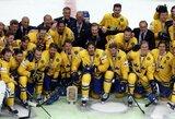 Vėl įvarčių neįmušę čekai pasaulio ledo ritulio čempionato mažąjį finalą pralaimėjo švedams