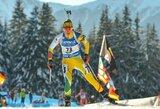 Nuostabiai Europos biatlono čempionatą pradėję lietuviai estafetėje pateko į geriausiųjų dešimtuką