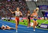 Greitame Europos čempionato finale A.Šerkšnienei nepavyko iškovoti medalio, vicečempionė krito iš karto po finišo