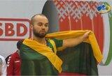E.Valčiukas Baltarusijoje susirinko tris aukso medalius, D.Ramanauskaitė pagerino Europos jaunių rekordą