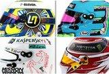 """Pamatykite: pristatyti visų naujojo """"Formulės 1"""" sezono lenktynininkų šalmai"""