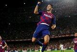 """Ispanijoje – dvi raudonos kortelės, įspūdingas L.Suarezo įvartis per save ir triuškinama """"Barcelona"""" pergalė"""
