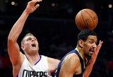 """Prie dešimtosios iš eilės """"Clippers"""" pergalės netikėtai svariai prisidėjo D.Jordaną pakeitęs """"centras"""""""
