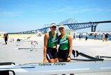Pasaulio jaunių irklavimo čempionate U.Juzėnaitė ir D.Rimkutė iškovojo bronzą