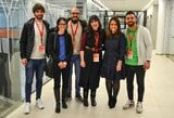 """Su studentais susitikę """"Žalgirio"""" ispanai džiaugėsi gyvenimu Lietuvoje"""