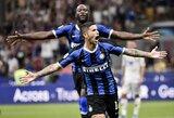 """Lietuvis E.Dubickas nuo atsarginių suolo stebėjo, kaip """"Inter"""" sutriuškino mažumoje likusią """"Lecce"""""""