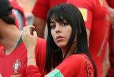 C.Ronaldo Portugalijos rungtynėse palaikiusi mylimoji G.Rodriguez puikavosi sužadėtuvių žiedu?