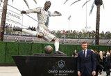 Los Andžele atidengta D.Beckhamo statula