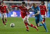 """""""Benfica"""" paskutinėmis minutėmis įveikė mažumoje likusį """"Zenit"""" klubą"""