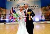 Šokėjai D.Vėželis ir L.Chatkevičiūtė Rusijoje tapo Europos čempionais