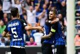 """Galingas I.Peršičiaus smūgis įtvirtino """"Inter"""" pergalę prieš """"SPAL"""""""