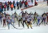 Penktasis biatlono Pasaulio taurės etapas prasidėjo norvegių pergale