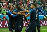 Solidžiau žaidę prancūzai įveikė belgus ir tapo pirmaisiais finalo dalyviais