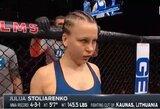 UFC turnyre Las Vegase J.Stoliarenko praliejo varžovės kraują, o teisėjų nuomonės išsiskyrė