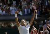 Įspūdingai atsitiesęs R.Federeris nukovė M.Čiličių ir iškopė į Vimbldono turnyro pusfinalį
