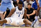Potencialus pirmasis NBA šaukimas dėl plyšusių batelių patyrė kelio traumą