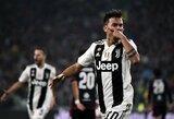 """Italija: C.Ronaldo pasiekimas, P.Dybalos įvartis pirmąją minutę ir dešimtoji """"Juventus"""" pergalė"""