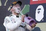 """""""Mercedes"""" užsitikrino čempionų titulą, """"Ferrari"""" kvalifikacijos dublis nieko gero neatnešė"""
