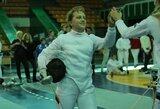 Lietuvos fechtuotojai išmėgino jėgas Šiaurės Europos šalių čempionate, V.Ažukaitė kovėsi su pasaulio čempione