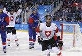 Šveicarijos ledo ritulininkai atseikėjo korėjiečiams net 8 įvarčius