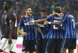 """""""Milan"""" klubas derbyje nesustabdė """"Inter"""" futbolininkų"""