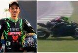 """Tragedija """"Superbike"""" lenktynėse: žuvo į barjerus įsirėžęs sportininkas"""