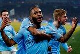"""Čempionų lygos aštuntfinalis: du baudinius užsidirbę ir mažumoje likę """"Manchester City"""" išplėšė vėlyvą pergalę Vokietijoje"""