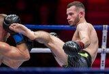 """Įspūdingai kovą laimėjęs M.Pultaražinskas: apie """"lucky shorts"""", seną """"skolą"""" žiūrovams ir norą tapti tikru čempionu"""