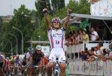 """Dviratininkas E.Šiškevičius triumfavo antrajame """"Tour du Limousin"""" etape ir tapo bendros įskaitos lyderiu"""