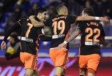 """""""Valencia"""" ir toliau sėkmingai kovoja dėl vietos kito sezono Čempionų lygoje"""