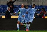 """""""Lazio"""" triumfavo Romos derbyje ir priartėjo prie taurės finalo"""