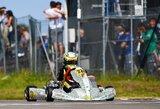 Europos kartingo čempionato lenktynėse lietuvis finišavo trečias